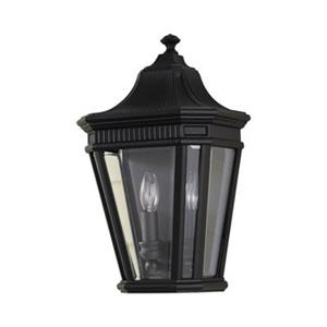 Feiss Cotswold Lane Black 2-Light Exterior Wall Sconce.