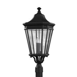 Feiss Cotswold Lane 3-Light Black Post Lantern