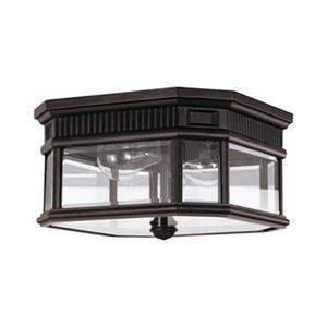 Feiss Cotswold Lane Grecian Bronze 2-Light Exterior Flush Mount Light