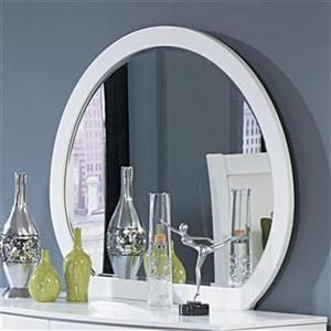 Homelegance White Rounded Dresser Mirror