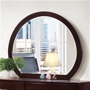 Homelegance Brown Rounded Dresser Mirror