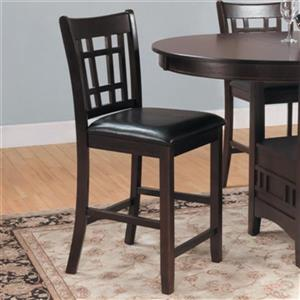Homelegance Junipero 41-in x 18-in Brown Counter Height Dining Chair (Set of 2)