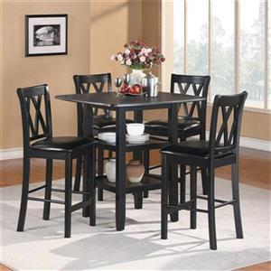Homelegance Norman Black 5-Piece Dining Set