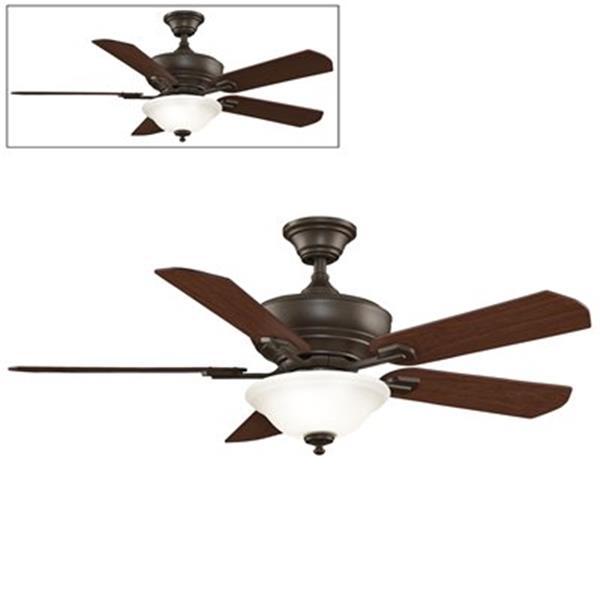 Fanimation Camhaven 52-in Oil Rubbed Bronze 2-Light Ceiling Fan