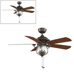 Fanimation Crestford 52-in Bronze 3-Light Ceiling Fan