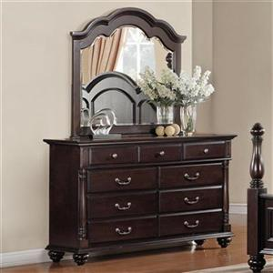 Homelegance Townsford 40-in x 64-in x 18-in Brown Dresser With Optional Mirror