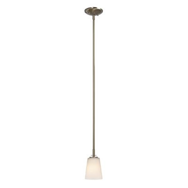 Galaxy Radcliff Collection 4.75-in x 8-in Brushed Nickel Cone Mini Pendant Light