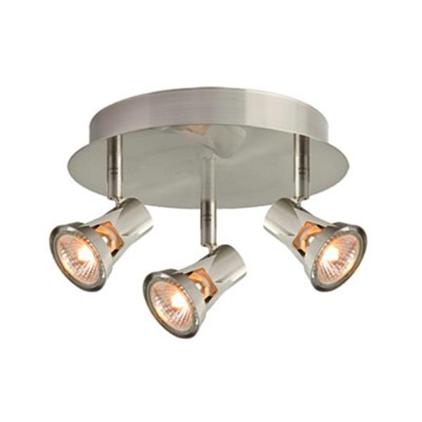 Amlite Lighting 6.25-in x 11.5-in Brushed Nickel 3-Light Directional Spot Light