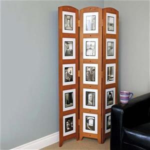 Kiera Grace Preston 64.5-in x 33-in Cairo Triple Panel Collage Room Divider
