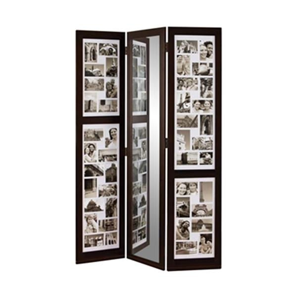 Nexxt Design Preston 65-in x 42-in Brown Triple Panel Collage Room Divider
