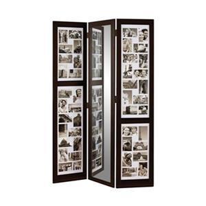 Kiera Grace Preston 65-in x 42-in Brown Triple Panel Collage Room Divider