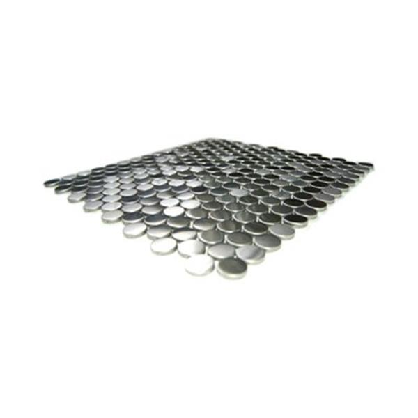 Eden Mosaic Tiles Penny Round Pattern Mosaic Tile - Stainless Steel - 11-Pack