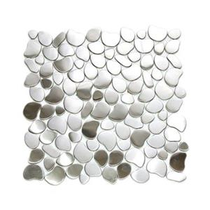 River Rock Pattern Mosaic Tile - Stainless Steel - 11-Pack.