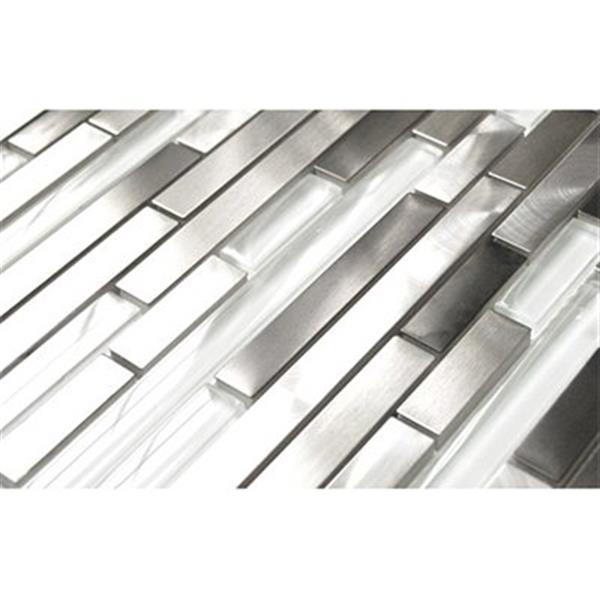 Modern Random Mix Steel - Glass II - 11-Pack.