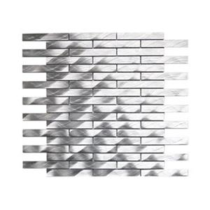 Long Brick Pattern Aluminum Mosaic Tile - 11-Pack