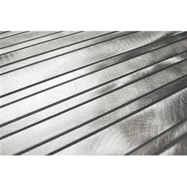 Tuile murale/dosseret en barre, aluminium argenté, 11 mcx