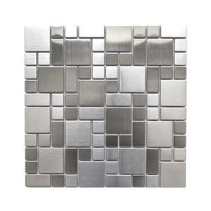 Modern Cobble Pattern Mosaic Tile - Stainless - 11-Pack