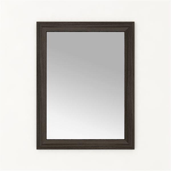 """Miroir de salle de bain Cutler, 23"""" x 30"""", brun"""