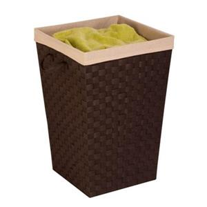 Honey Can Do  Brown Woven Strap Hamper with Liner