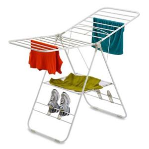 Honey Can Do DRY White Heavy Duty Gull Wing Drying Rack