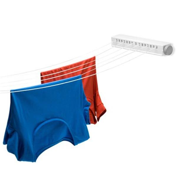 Honey Can Do DRY White Six-Line Extendable Clothesline