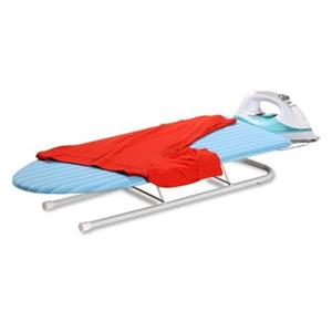 Honey Can Do 6.2-in x 32-in Blue Deluxe Tabletop Ironing Board with Retractable Iron Rest
