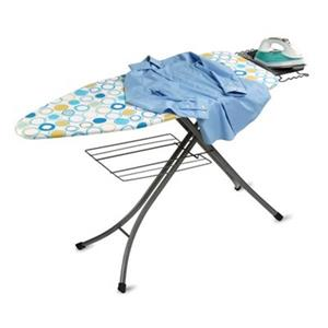 Honey Can Do 48-in x 35.5-in Blue Ironing Board with Rest and Shelf