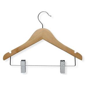 Honey Can Do Kid's Basic Hanger with Clips (10-Pack)