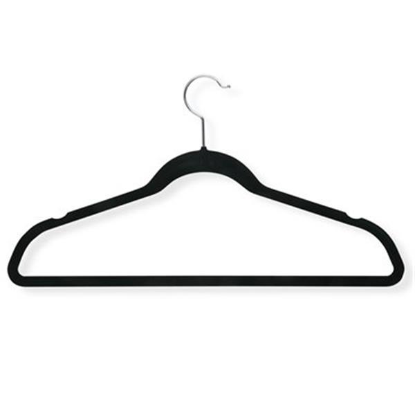 Honey Can Do Black Velvet Touch Suit Hanger (20-Pack)