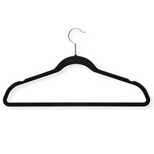 Honey Can Do Black Velvet Touch Suit Hanger (20-Pack)