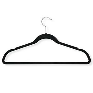 Honey Can Do Black Velvet Touch Suit Hanger (50-Pack)