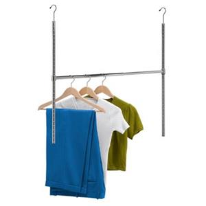Honey Can Do 35-in H x 22.5-in (expandable to 3-ft 2-in W) Chrome Plated Steel Adjustable Hanging Closet Rod