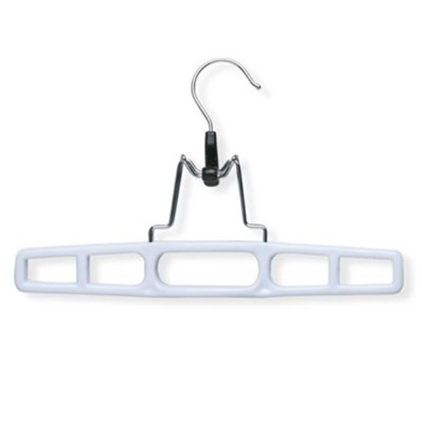 Honey Can Do White Plastic Pant Hanger with Clamp (12-Pack)