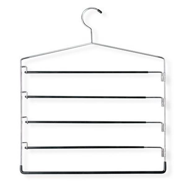 Honey Can Do Chrome/Black Five Tier Swinging Arm Pant Hanger (2-Pack)