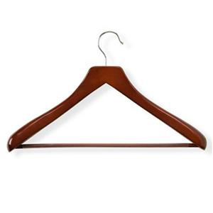 Honey Can Do Cherry Deluxe Contoured Suit Hanger with Non-Slip Bar (2-Pack)