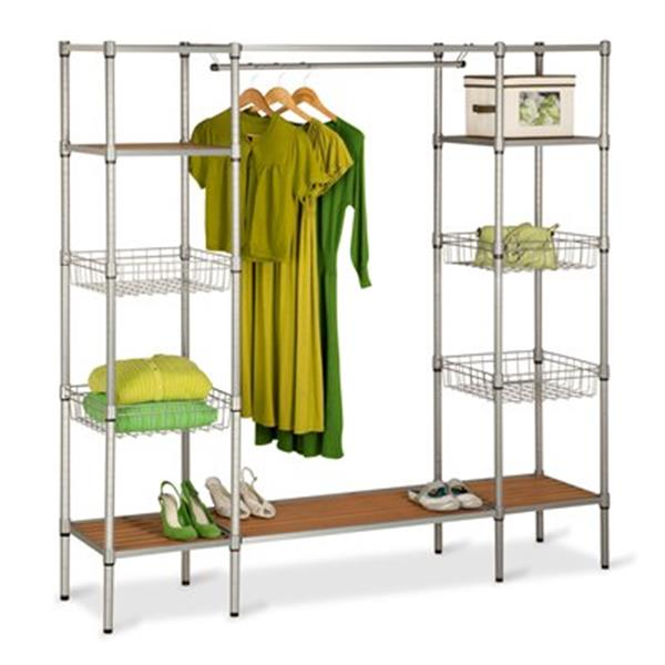 Honey Can Do WRD-02350 Freestanding Steel Closet with Basket