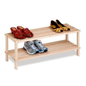 Honey Can Do 11.60 Natural Wood 2 Tier Shoe Rack