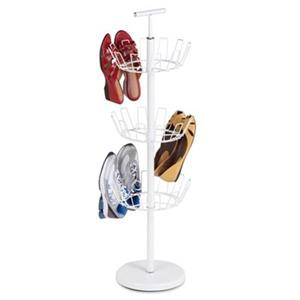 Honey Can Do 39.30-in White 3 Tier Shoe Tree