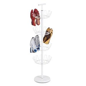 Honey Can Do 49.20-in White 4 Tier Shoe Tree