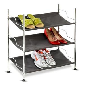 Honey Can Do 24.25-in Chrome 3 Tier Shoe Rack