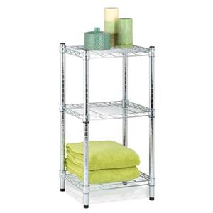 Honey Can Do  Chrome 3-Tier Shelving Tower