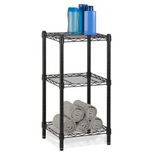 Honey Can Do Black 3-Tier Shelving Tower