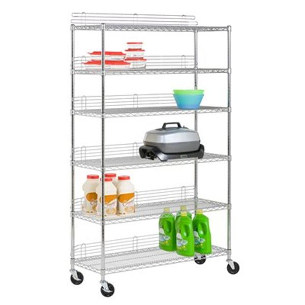 Honey Can Do Urban Chrome 6- Tier Shelving Unit
