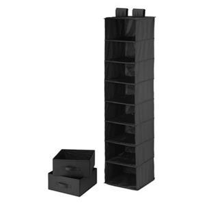 Honey Can Do Black 8-Shelf Organizer with 2 Drawers