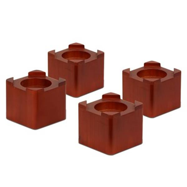Honey Can Do 3.5-in x 4.25 Brown Bed Risers (Set of 4)