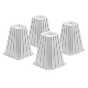 Honey Can Do 7.5-in White Bed Risers (Set of 4)