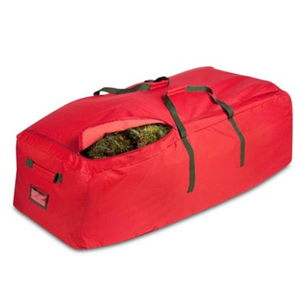 Honey Can Do 30-in x 30-in Red WHeeled Rolling Tree Storage Bag