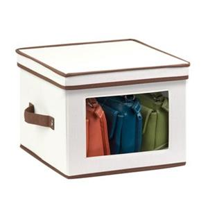 Honey Can Do 8.50-in x 12-in Off White Window Storage Box