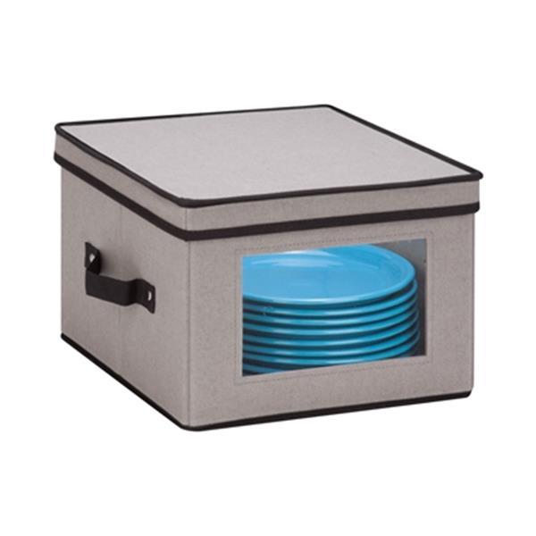 Honey Can Do 8.50-in x 12-in Grey Window Storage Box