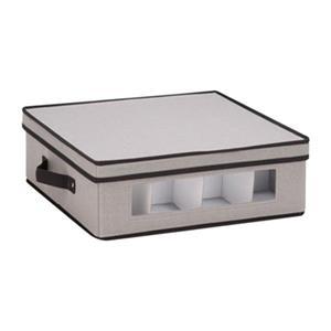 Honey Can Do 5.75-in x 14-in Grey Window Storage Box